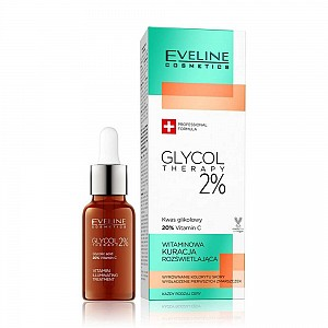 Eveline Glycol Therapy 2% Vitamin Illuminating Night Treatment Face Serum 18ml