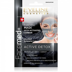 Eveline Facemed+ Purifying Face Mask With Activated Carbon 2x5ml