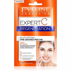 Eveline Expert C 3in1 Regenerating Multivitamin Face Scrub Fine-grained 2x5ml